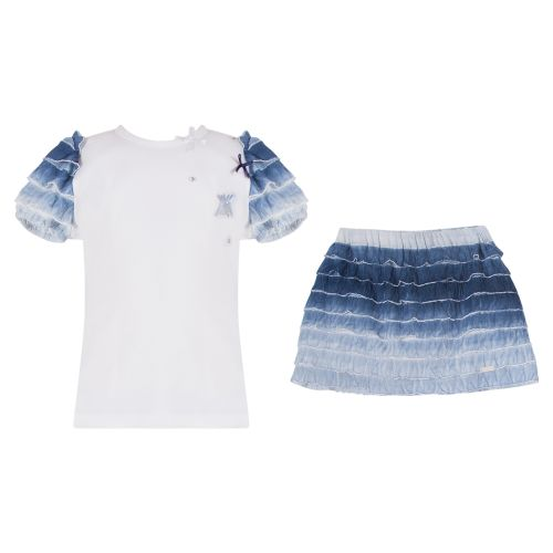 GF Ferre Top with Skirt - Blue