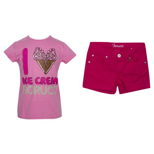 """Pink """"Ice Cream"""" Top with Shorts"""
