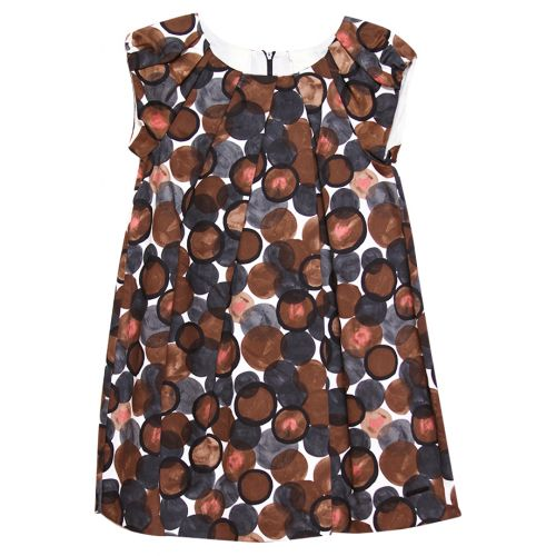 Brown Polka Dot Dress Design