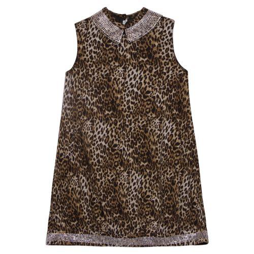 Brown Leopard Design Dress