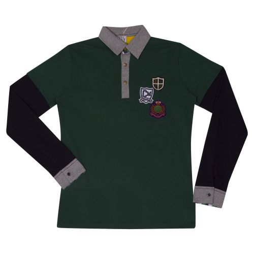 Green and Black Polo Shirt
