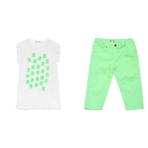Green Skull Shirt & Pants