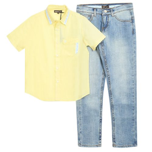 Yellow Polo with Jeans
