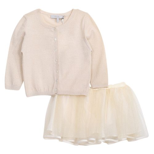 Baby Dior Sweater With Skirt - Brown
