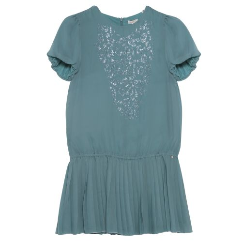 Green Short Sleeve Dress