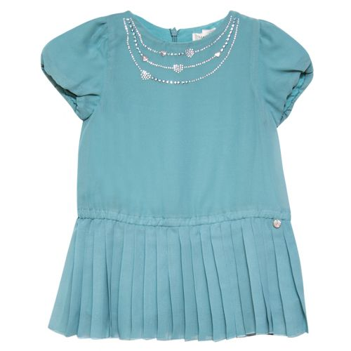 Turquoise Short Sleeve Dress