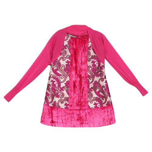 Pink Floral Cardigan & Dress