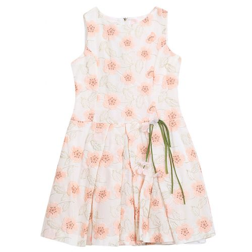 Pink Sleeveless Floral Dress