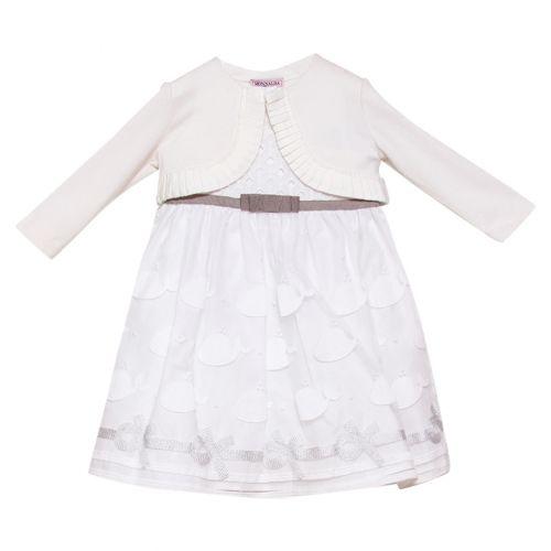 White Shrug & Fish Print Dress