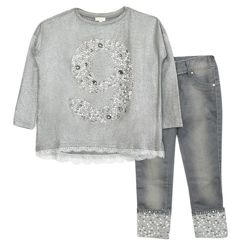 Microbe 2pc Set Girl - Grey