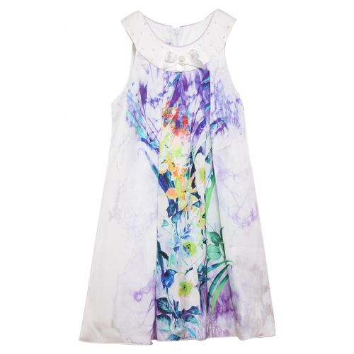 Multicolored Floral Sleeveless Dress