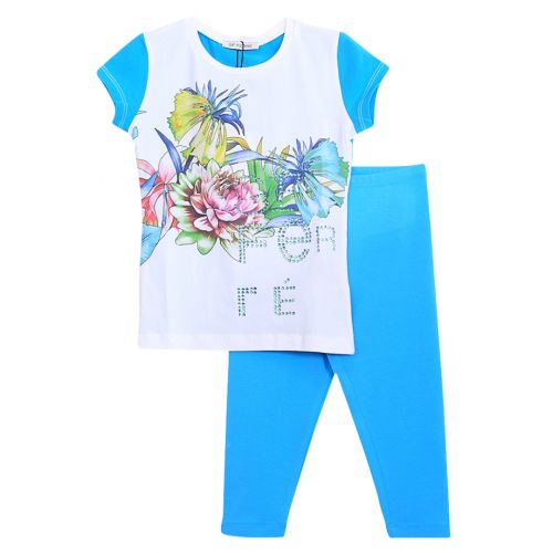 GF Ferre T-Shirt With Leggings Girl  - Blue