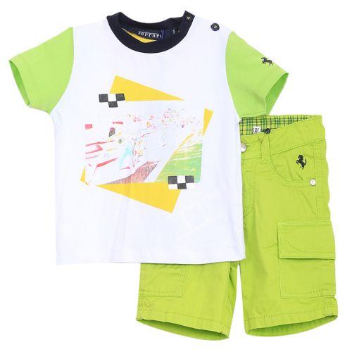 Green Shirt with Shorts