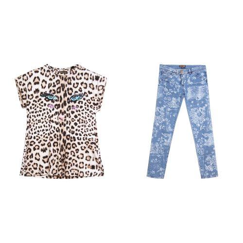 Leopard Shirt & Jeans