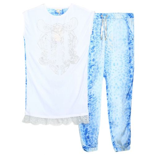 Miss Grant Top & Jogging Pants - Blue