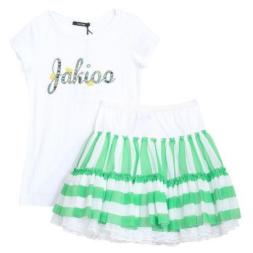 Monnalisa T-Shirt with Skirt