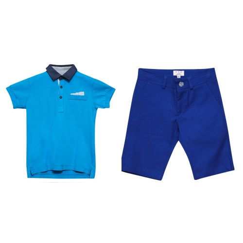 Blue Polo Shirt & Shorts