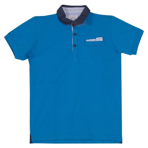 Blue Plain Polo Shirt