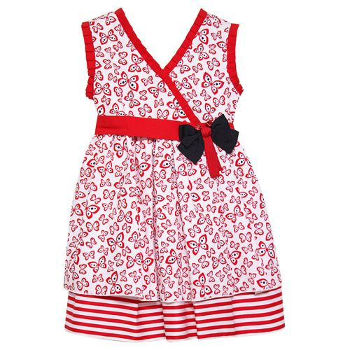 Red Butterfly Sleeveless Dress