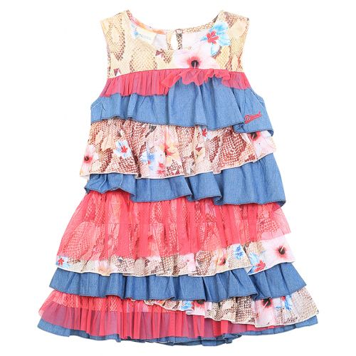 Multicolored Layered Shift Floral Dress