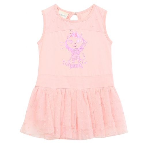 Pink Dress with Animal Logo