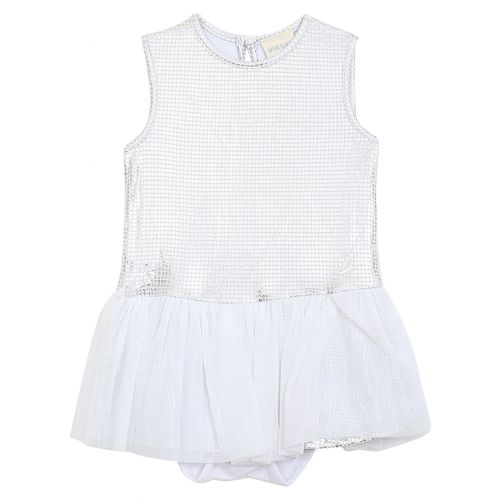 White Sequins Dress with Underpants
