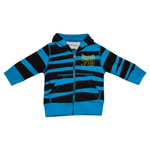 Black & Blue Tiger Hooded Sweater