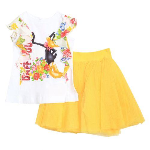 Monnalisa Top With Skirt