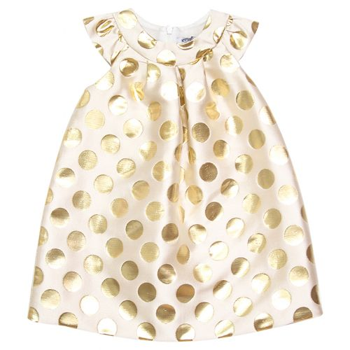 Gold Polka Dot Dress