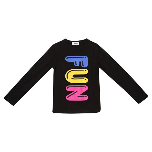Black Long-sleeve Shirt with FUN Print