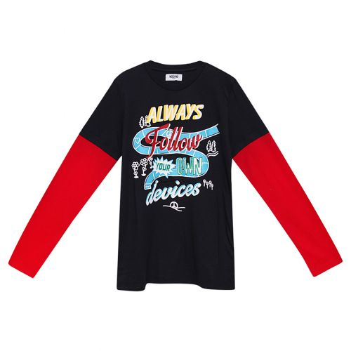 Black & Red Long Sleeves T-Shirt