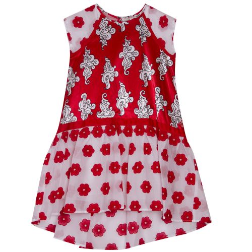 Quis Quis Dress With Leggings - Red