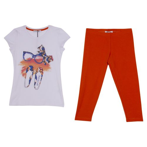 GF Ferre T-Shirt With Leggings - Orange
