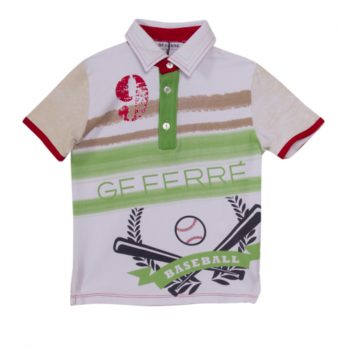 "Multicolored ""Baseball"" Polo Shirt"
