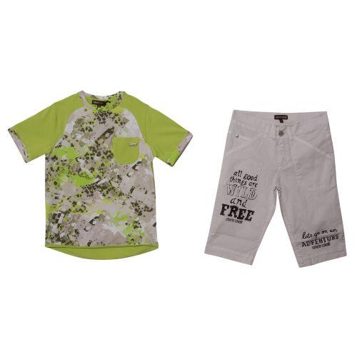 Roberto Cavalli T-Shirt & Bermuda Shorts - Green