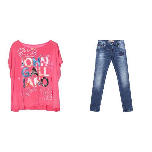 Pink Shirt & Jeans
