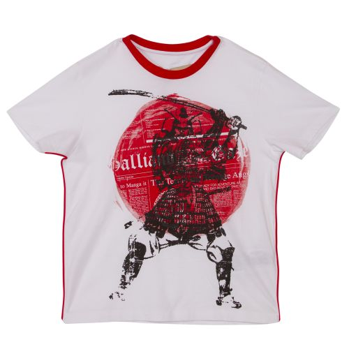 John Galliano T-Shirt & Bermuda Shorts - White