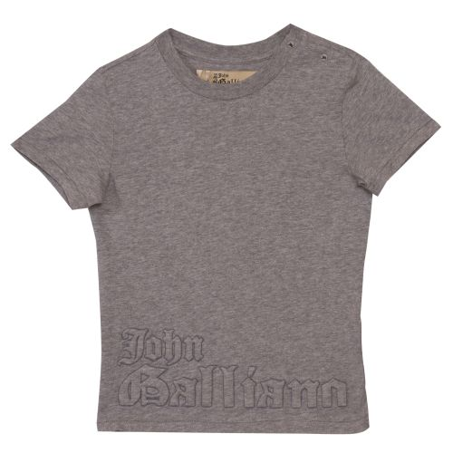 Grey T-Shirt with Embossed Text