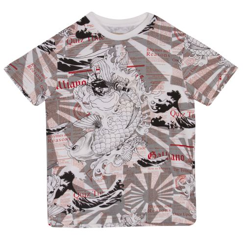 "Grey ""Japan Theme"" Design T-Shirt"