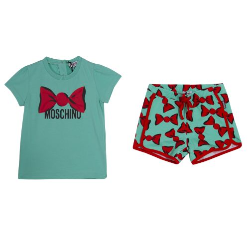 Moschino T-Shirt With Shorts - Blue