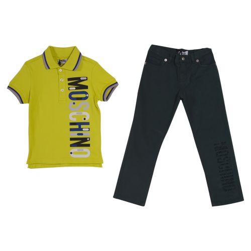 Yellow Polo Shirt with Pants