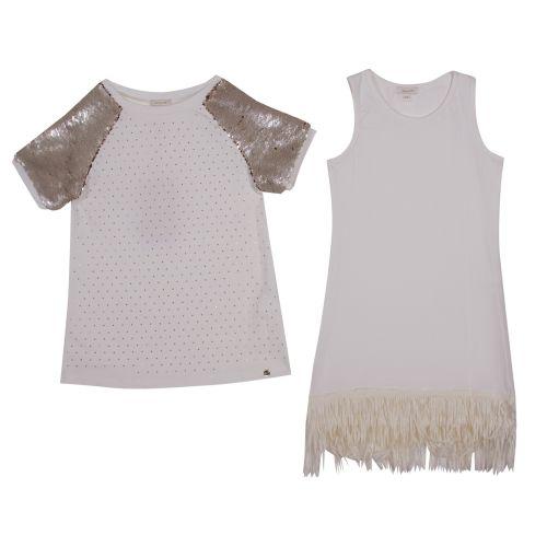 Microbe Dress - White