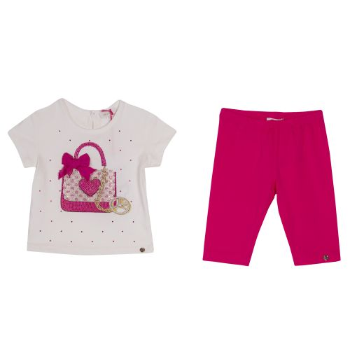 Microbe T-Shirt & Leggings - White