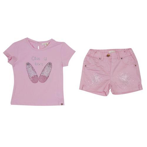 Microbe T-Shirt & Short - Pink