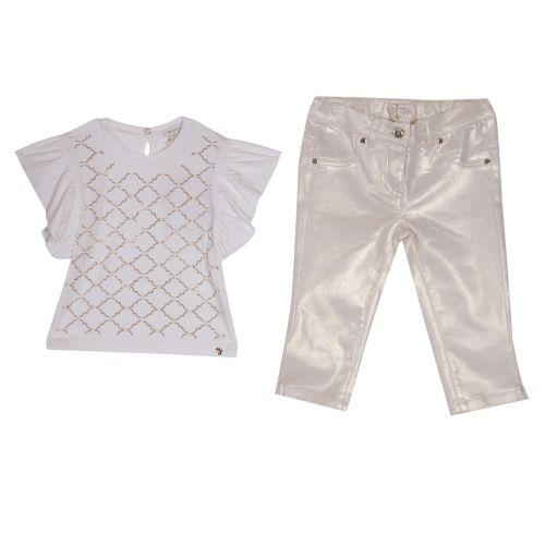 Microbe T-Shirt & Pant - White