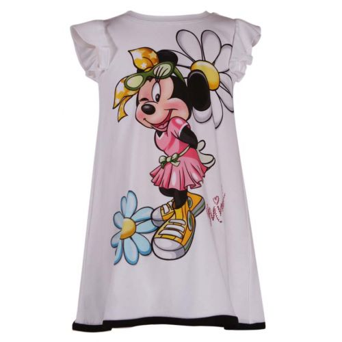 Monnalisa Mini Mouse Dress - White