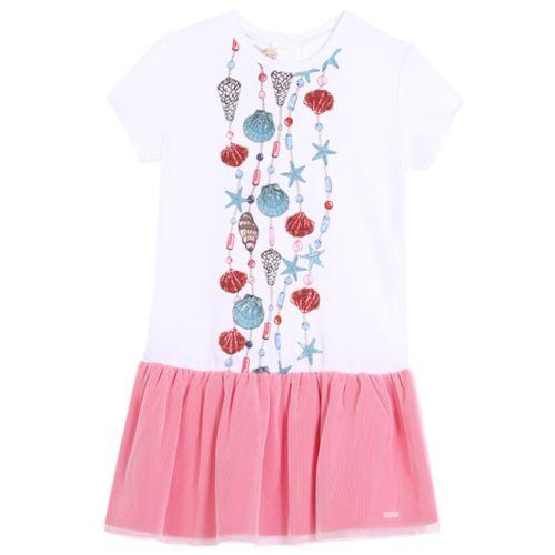 Pink Aquatic Design Dress