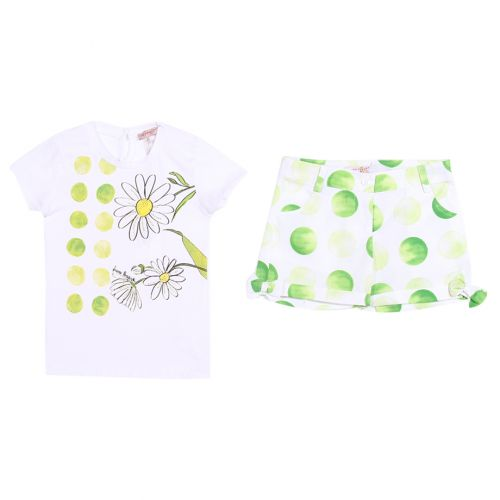 Green Polka Dot Short and Floral T-Shirt