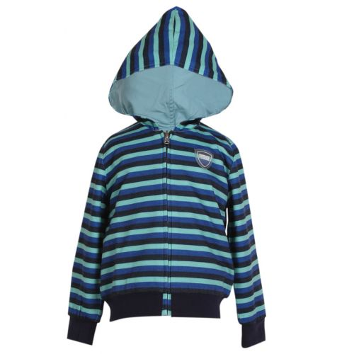 Blue Striped  Jacket with Hood