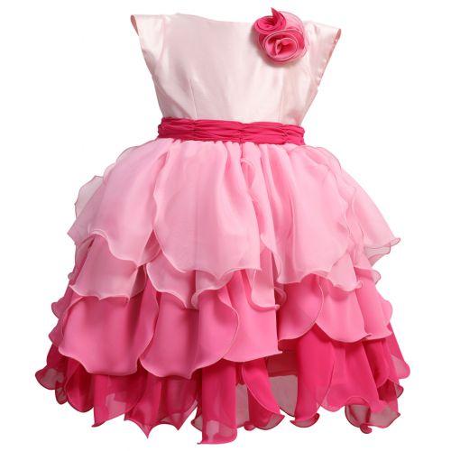 Pink Floral Design Dress
